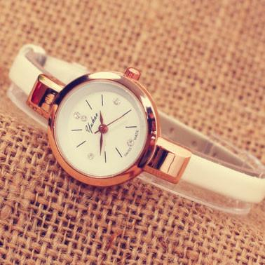 Fashion Ladies Thin Strap Diamond Alloy Quartz Wrist Watch For Big Sale!- Fowish.com