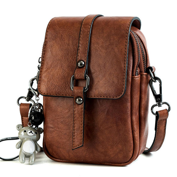Leisure Buckle Lady Messenger Bag Retro Square Single Shoulder Bag