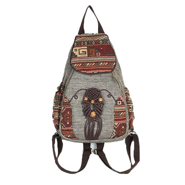 Folk Style Totem Weave Retro Canvas Travel Backpack For Big Sale!- Fowish.com
