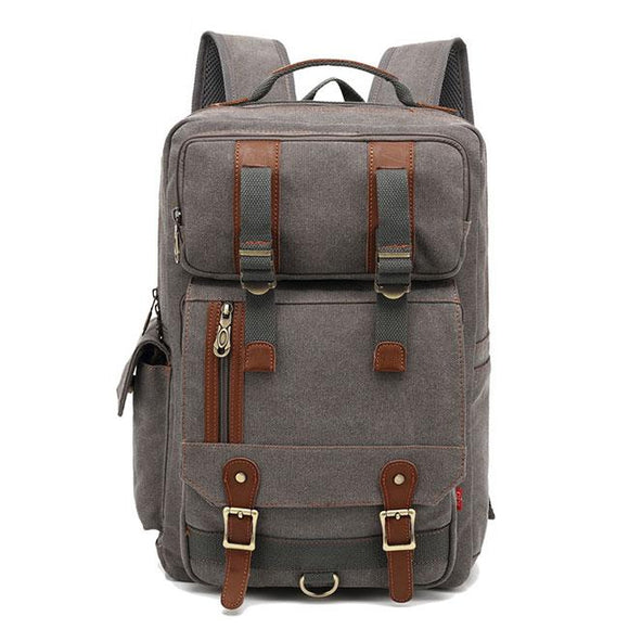 Leisure Large Men's Outdoor Travel Bag Multi-function Canvas Backpack For Big Sale!- Fowish.com