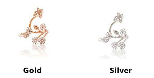 Cute Snowflake Tree Leaves Branches Flower Lady Open Ring For Big Sale!- Fowish.com