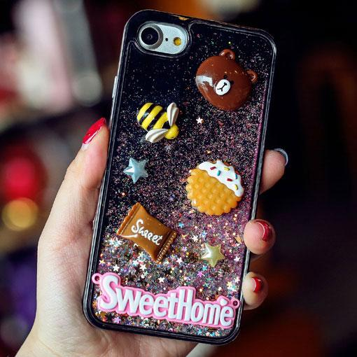 Cute Cartoon Stereo Rabbit Bear Chick Glitter Quicksand Phone Case Iphone 6/6 plus/6s/6s plus/7/7 plus Case For Big Sale!- Fowish.com