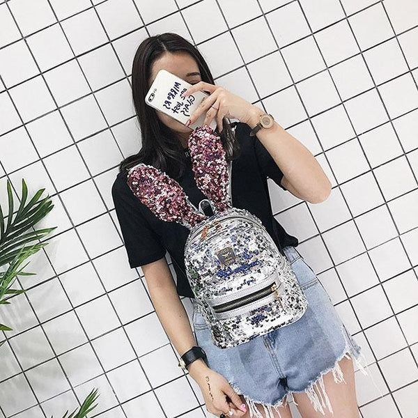 Shining Sequins Colorful Rabbit Ear Mini Animal Bag Girl's Backpack For Big Sale!- Fowish.com