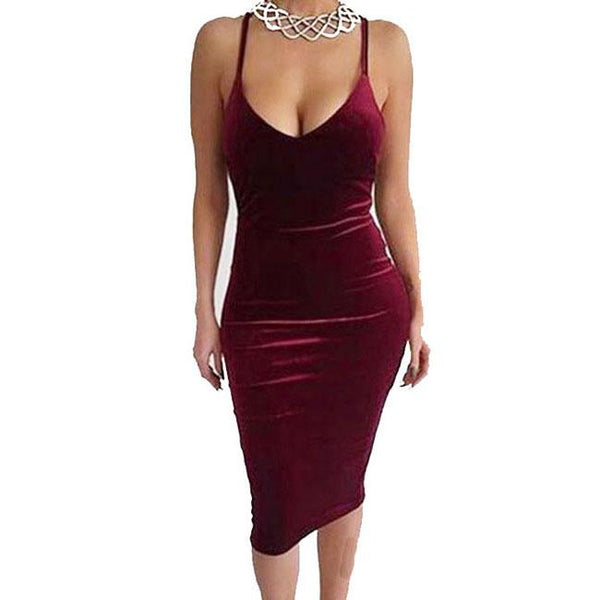 Sexy Women's Pure Backless Crossover Straps Braces Skirt Dress For Big Sale!- Fowish.com