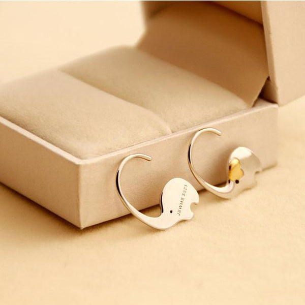 Cute Elephant Nose Hang Animal Earring Studs Silver Women Eardrop For Big Sale!- Fowish.com