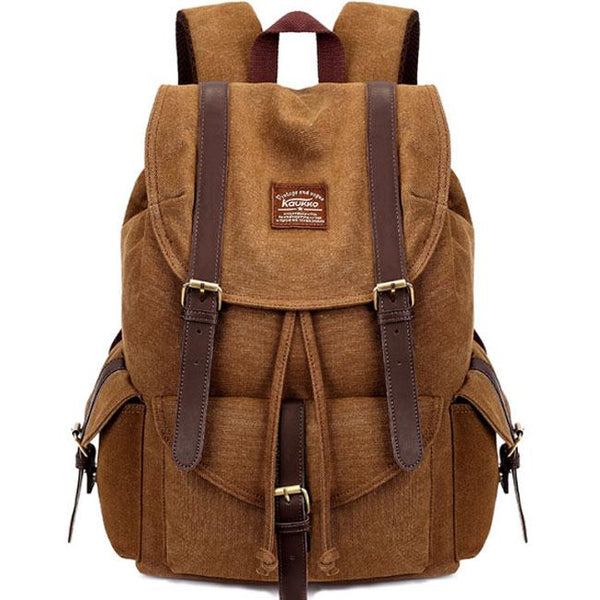 Retro Camping Bag Multi-function Large Hiking Travel School Canvas Backpacks For Big Sale!- Fowish.com