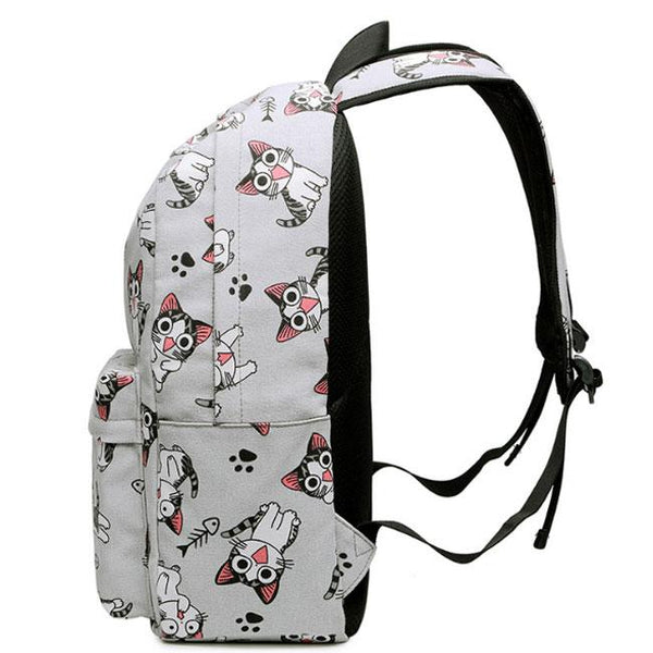 Cute Bird Horse Cat Dog Head Large Canvas School Animal Backpack For Big Sale!- Fowish.com