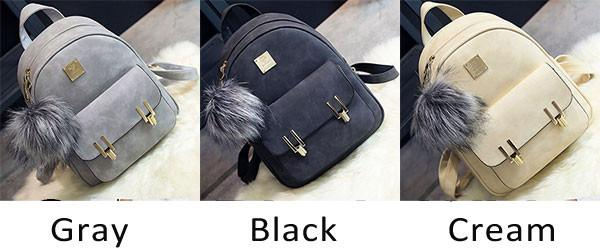 Fashion Frosted PU Zippered School Bag With Metal Lock Match Backpack For Big Sale!- Fowish.com