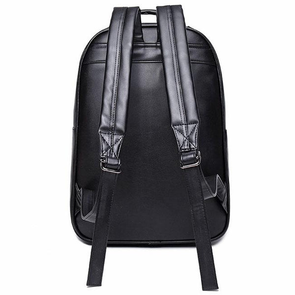 Punk PU Stereo Ferocious Wolf Head Rivets Large 3D Animal School Backpack For Big Sale!- Fowish.com