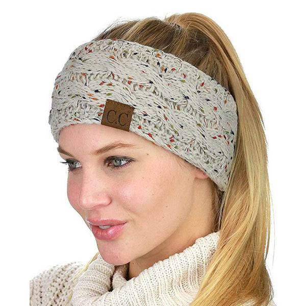 Leisure Motley Twist Soft Thick Wool Headband Knit Warm Winter Women Hairbands