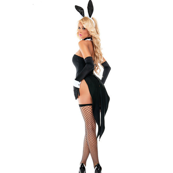 Sexy Costume Bunny Seduction Cosplay Halloween  Costume Conjoined Lingerie