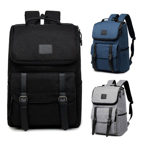 Fashion Double Buckle School Bag Rucksack Waterproof Oxford Large Capacity Computer Backpack