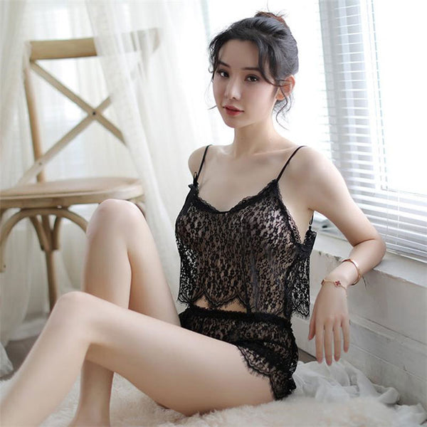 Sexy Hot Transparent Bra Set Vest Lace Underwear See-through Hollow Sling Teen Intimate Lingerie
