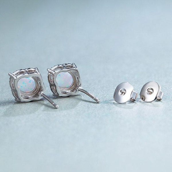 Unique Vintage Women's Stainless Steel Round Cubic Zirconia Earring Studs For Big Sale!- Fowish.com
