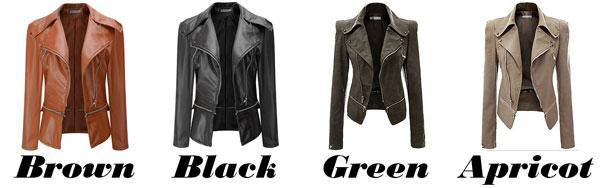 Fashion PU Leather Zipper Jacket Autumn Coat PU Clothes Motorcycle Leather Jacket For Big Sale!- Fowish.com
