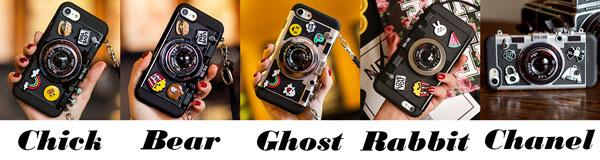Creative Cartoon Camera Shape Stereo Rabbit Bear Chick Ghost Chanel Phone Case Iphone 6/6 plus/6s/6s plus/7/7 plus/8/8 plus/X Case For Big Sale!- Fowish.com