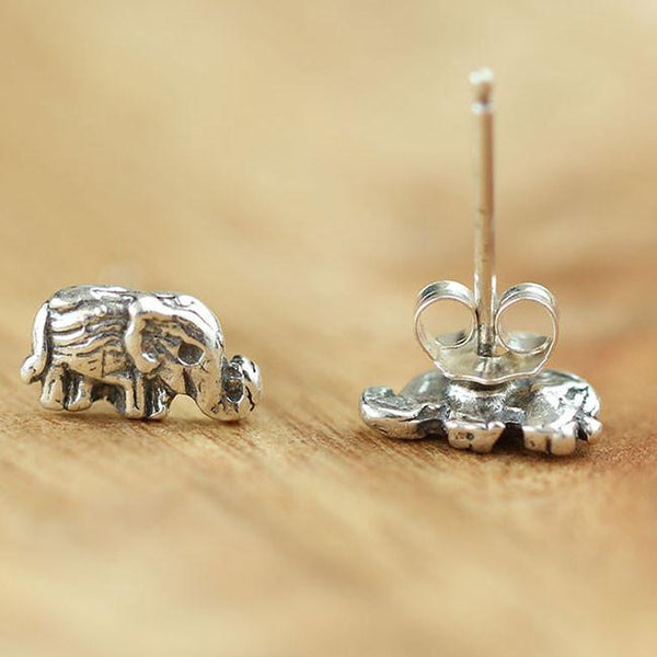 Handmade Cute Elephant Silver Women Bohemian Retro National Style Earring Studs For Big Sale!- Fowish.com
