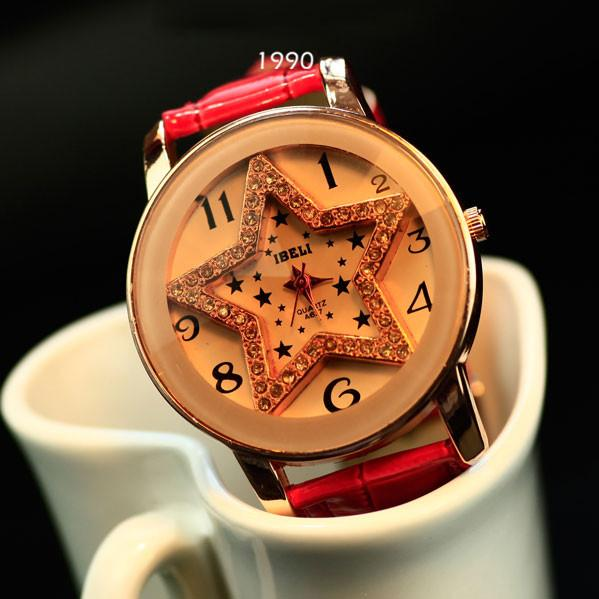 Large dial full of crystal pentagram belt New Ladies watches - lilyby