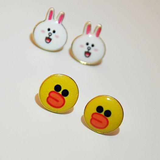 Cartoon Animal Cat Duck Dog Robot Women Cute Kitty Earring Studs For Big Sale!- Fowish.com