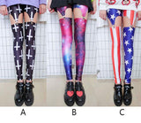 Retro Cross &Galaxy Star &American Flag Leggings - lilyby