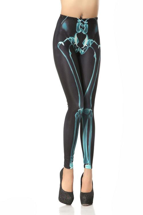 Unique Drain Bones Printed Leggings For Big Sale!- Fowish.com