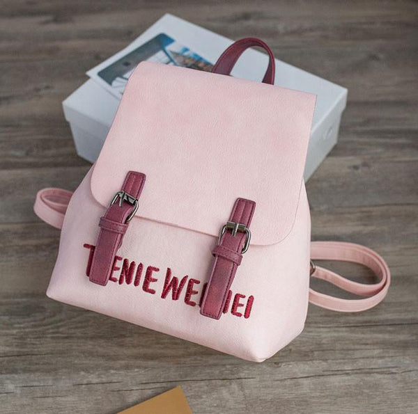 Unique Embroidery Letters Leisure Pure Backpack For Big Sale!- Fowish.com