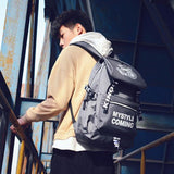 Leisure Pure Color Spider Bicycle Travel Student Bag Canvas Backpack For Big Sale!- Fowish.com
