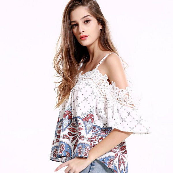 Women Girls Strapless Long Sleeve Slim Blouse Loose Tops For Big Sale!- Fowish.com