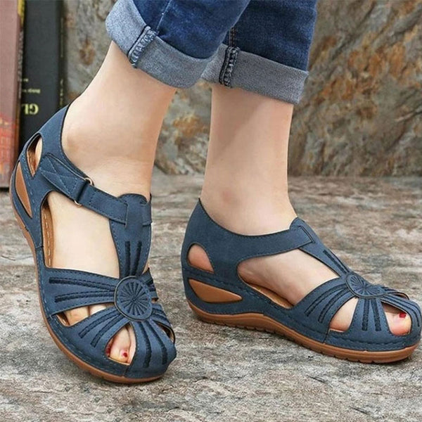 Fashion Summer Shoes Slope Heel Non-Slip Bottom Women's Sandals