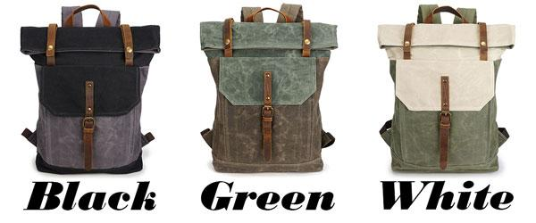 0eb1e28fc0da ... Unique Man Retro Canvas Buckle Leather Waterproof Square Flap School  Backpack Large Travel Backpack For Big