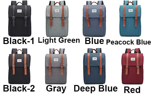Leisure Square Frosted Splicing Travel Bag Belt Metal Lock Flap School Backpack For Big Sale!- Fowish.com