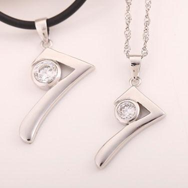 Sterling Silver Number Seven Couple Pendant For Big Sale!- Fowish.com
