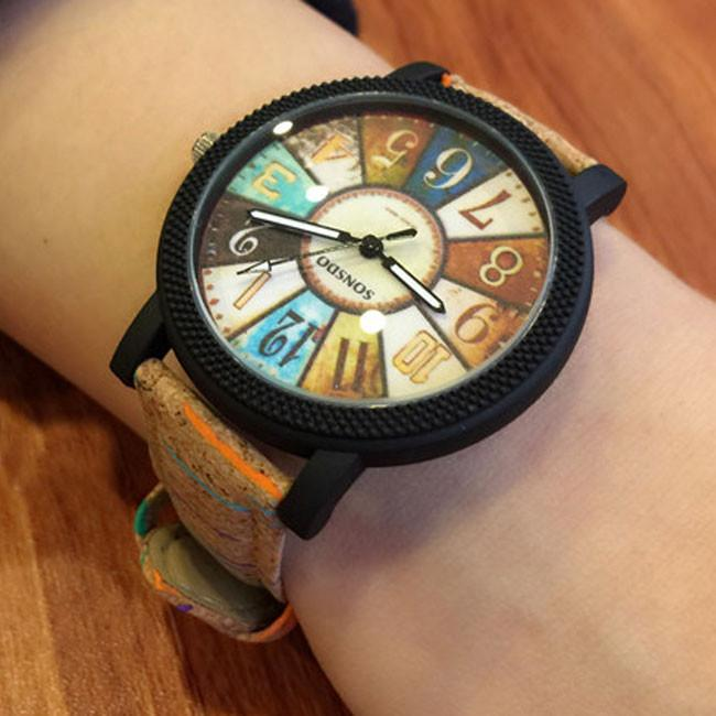 Unique Dusk Compass Fantasy Rome Charm Leather Band Student Casual Wrist Watch For Big Sale!- Fowish.com