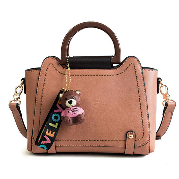 Leisure New Bear Decor Women Handbag Large Shoulder Bag