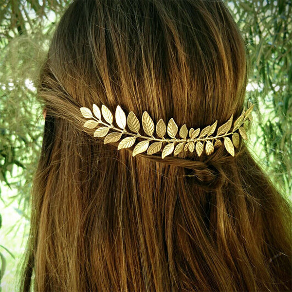 Leisure Leaves Alloy Hair Clip Leaf Hair Comb Hair Accessories