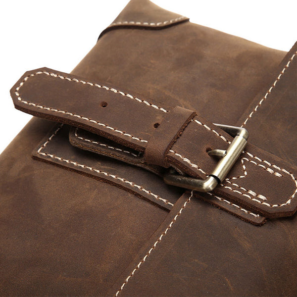 Retro Single Buckle Leather Vintage Shoulder Bag Men's Messenger Bag