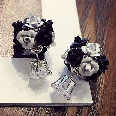 New Flower Bouquet Ball Round Crystal Earrings Stud For Big Sale!- Fowish.com