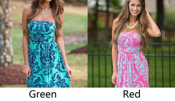 Floral Print Bodycon Low Cut Strapless Maxi Sexy Dress For Big Sale!- Fowish.com