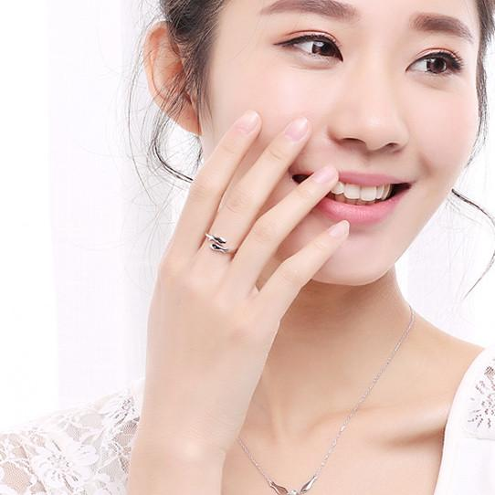 Cute Constellation Pisces Silver Fishes Finishing Polish Open Rings For Big Sale!- Fowish.com