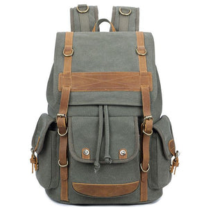 Retro Men's Three Pockets Outdoor Rucksack Large Leisure Travel Canvas Backpack For Big Sale!- Fowish.com