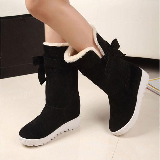 Sweet Bowknot Warm Winter Snow Boots Shoes For Big Sale!- Fowish.com
