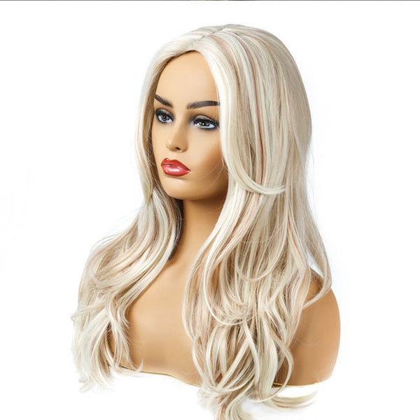 New Wave Gradient Brown Hair Wig Medium Long Lady Hair Wig