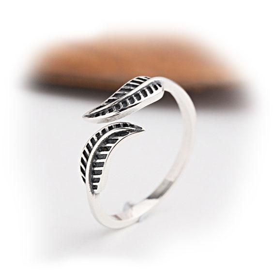 Vintage Leaf Adjustable Women's Leaves Silver Ring For Big Sale!- Fowish.com