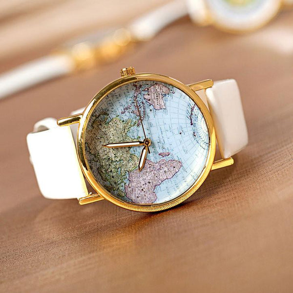 Cute Retro World Map Watch - lilyby
