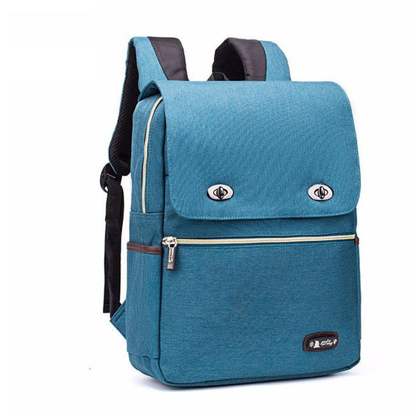 Leisure Nylon British Style Student Bag Simple Large School Backpack For Big Sale!- Fowish.com