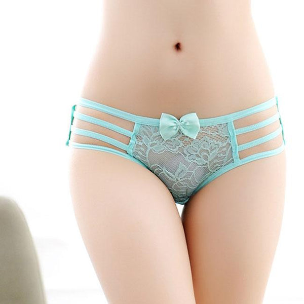 Sexy Bandage Underwear Hollow Out Women's Bow Lingerie For Big Sale!- Fowish.com