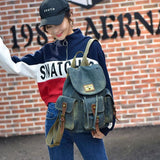 Retro Denim Multi-pocket School Rucksack Leisure Travel Backpack For Big Sale!- Fowish.com