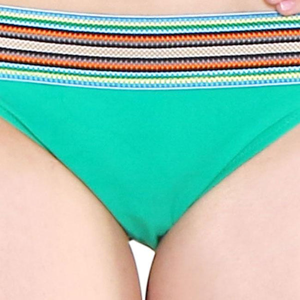 Sexy Green Folk Style Bikini Sling Swimwear For Big Sale!- Fowish.com