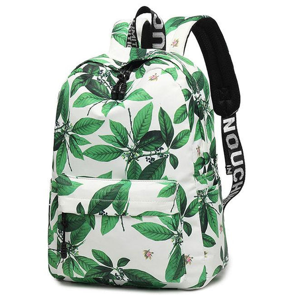 Unique Leaves Flower Ink Style School Rucksack Student Backpack For Big Sale!- Fowish.com