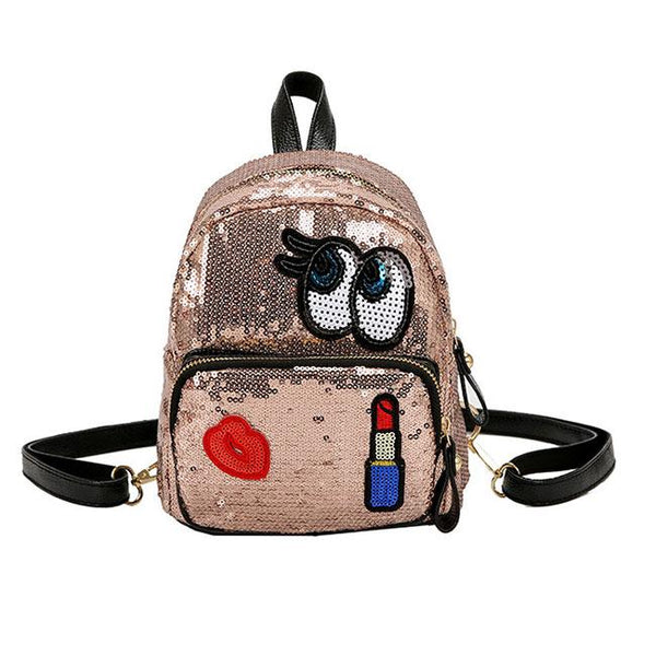 Cute Cartoon Eyes Sequin Small Student Children Backpack For Big Sale!- Fowish.com